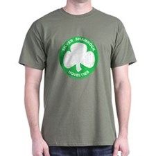 Silver Shamrock Faded T-Shirt