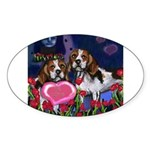 BEAGLE valentine Oval Sticker