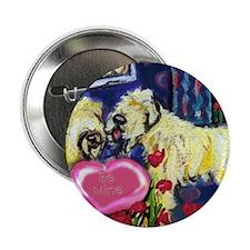 SOFT COATED WHEATEN Valentine Button