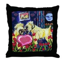 SOFT COATED WHEATEN Valentine Throw Pillow