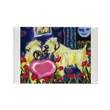 SOFT COATED WHEATEN Valentine Rectangle Magnet
