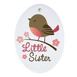 Little Sister Ornament (Oval)