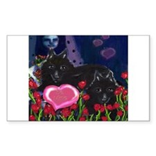 Schipperke Valentine Rectangle Decal