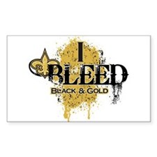 I Bleed Black and Gold Decal