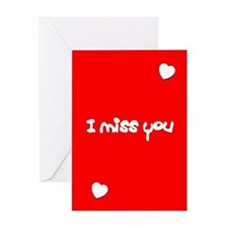 I Miss You Hearts Valentine's Day Greeting Card