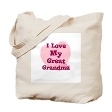 I Love My Great Grandma Tote Bag