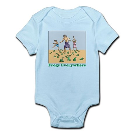 Frogs Kids Passover Infant Bodysuit