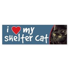 I Love My Shelter Cat Bumper Stickers (10 pk)