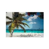 Cute Travel aruba Rectangle Magnet