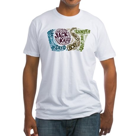 Lost Characters Fitted T-Shirt