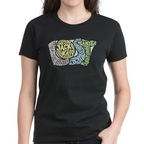 Lost Characters Women's Dark T-Shirt