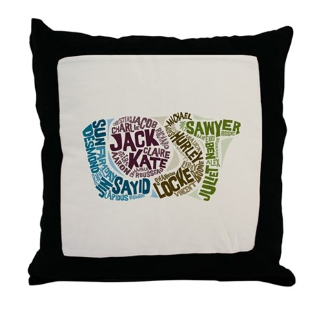 Lost Characters Throw Pillow
