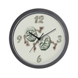 Comedy and Tragedy Wall Clock