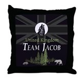 Team Jacob UK Throw Pillow