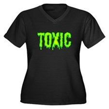 Toxic Women's Plus Size V-Neck Dark T-Shirt