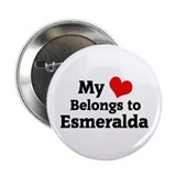 My Heart: Esmeralda Button
