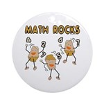 Math Rocks Ornament (Round)