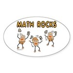 Math Rocks Sticker (Oval 50 pk)
