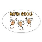 Math Rocks Sticker (Oval)