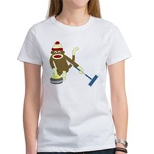 Sock Monkey Olympics Curling Tee