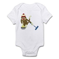 Sock Monkey Olympics Curling Infant Bodysuit