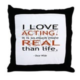 Oscar Wilde Quote on Acting Throw Pillow