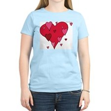 Hearts Women's Pink T-Shirt