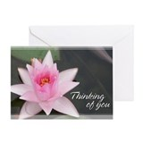 Lotusflower Thinking of You Card 5x7