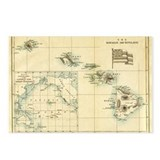 Antique Hawaii Map Postcards (Package of 8)