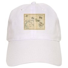 Antique Hawaii Map Baseball Cap