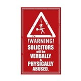 No Solicitors Decal