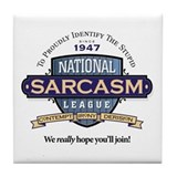 National Sarcasm League Tile Coaster