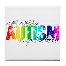 My Nephew My Hero - Autism Tile Coaster