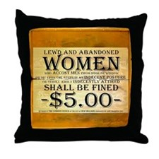LEWD AND ABANDONED WOMEN Throw Pillow