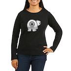 Dharma Bear Women's Long Sleeve Dark T-Shirt