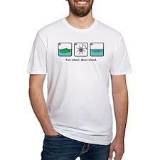Turn Wheel. Move Island. Shirt