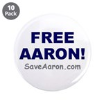 """FREE AARON!"" 3.5"" Button (10 pac"