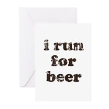 I run for beer Greeting Cards (Pk of 20)