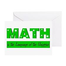 Green Math Greeting Card