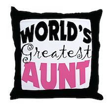 World's Greatest Aunt Throw Pillow
