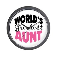 World's Greatest Aunt Wall Clock