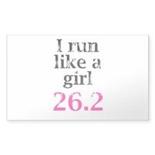 Run Like a Girl 26.2 Decal