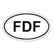 Fort-de-France, Martinique FDF Decal