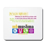 MBM Mousepad with Du'aa for difficulty