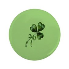 "Vintage Shamrock Green 3.5"" Button"