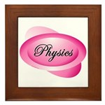 Pink Physics Oval Framed Tile