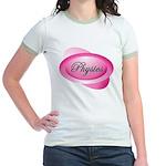 Pink Physics Oval Jr. Ringer T-Shirt