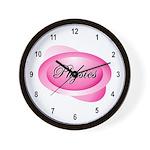 Pink Physics Oval Wall Clock