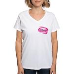 Pink Physics Pocket Area Women's V-Neck T-Shirt
