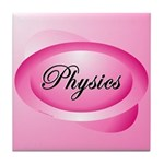 Pink Physics Oval Tile Coaster
